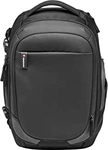 Manfrotto MB MA2-BP-GM Advanced² Gear M Camera and Laptop Backpack, for DSLR and Mirrorless with Standard Lenses, Full Front Compartment, Convertible Padded Divider System, Tripod Strap, Coated Fabric