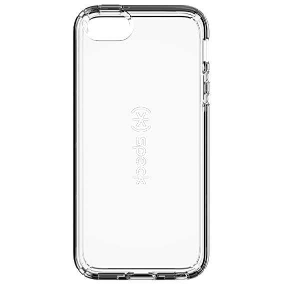 half off 9a232 e4e7f Speck Products 77157-5085 CandyShell Clear Cell Phone Case for iPhone  SE/5/5S - Retail Packaging - Clear
