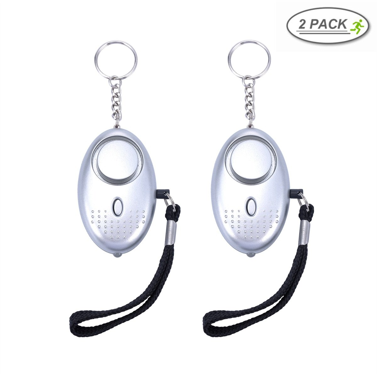 Personal Safety Alarm Keychain Anti-Theft Keychain Alarm 130 DB Personal Safety Self Defense Electronic Device Bag Decoration 2 Pieces Kids Girls Superior 2 Packs Shouyi