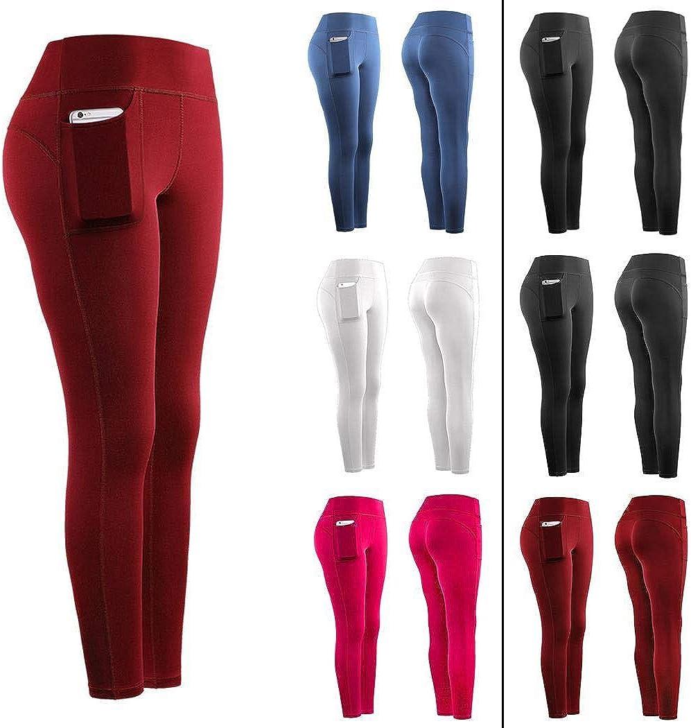 kemanner Leggings con Tasche Sportivi Elasticizzati da Palestra per Fitness da Donna di Nuova Moda Pantaloni Sportivi