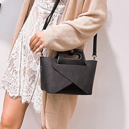 Bolsa Nuevo match Compuesto Bolso Gray De Handbag Vintage El Paquete Otomoll Messenger Corea Femenino All Ocio AYq7Bw5xg