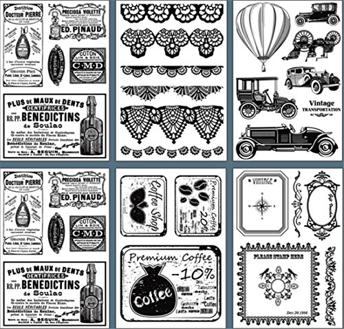 Layhome Vintage Clear Stamp Stamping Scrapbooking Notebook Album Cards Decor (Lady) by Layhome (Image #4)