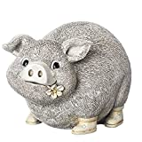 Cheap Roman Inc. Pudgy Pals Garden Statue 6″H Pig In Rain Boots Figurine 10837