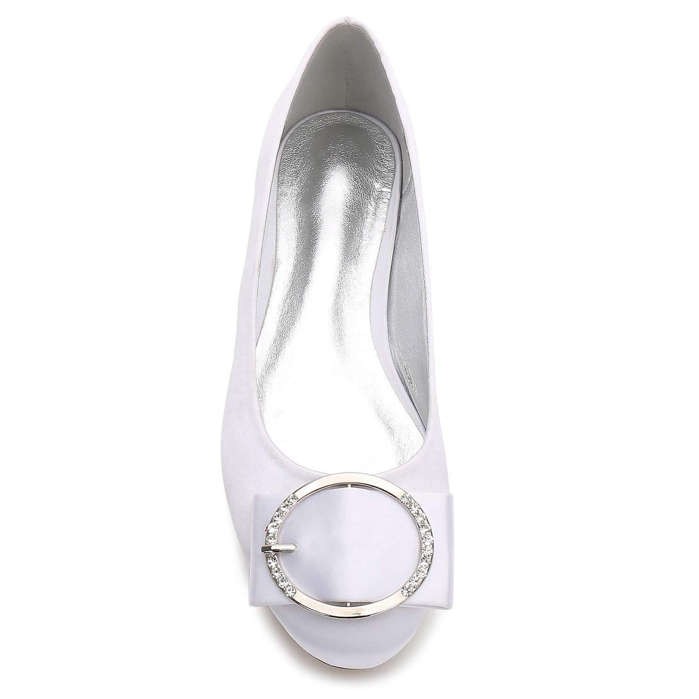 Elobaby Damen Hochzeitsschuhe Modern Abend Geschlossene Zehe High High High Heels Satin Kleid Plattform   1,8 cm Absatz b9ea39