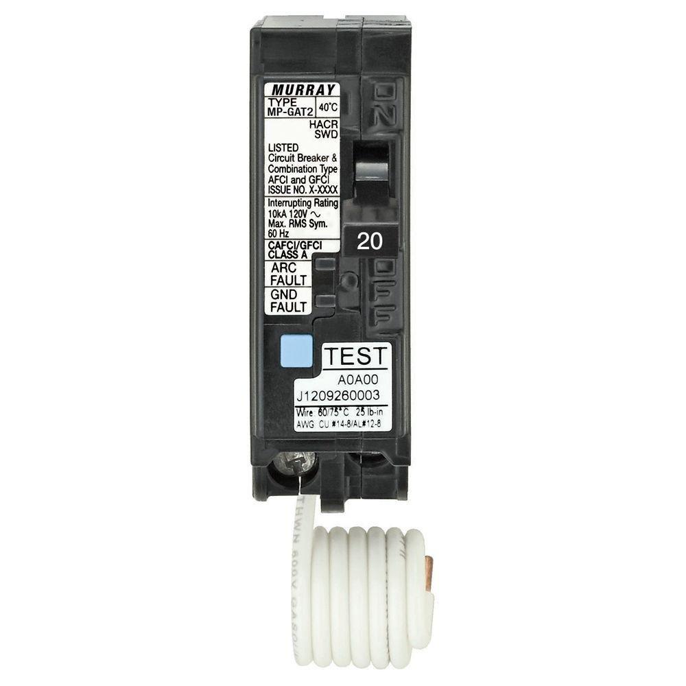 Murray 20 Amp AFCI/GFCI Dual Function Circuit Breaker