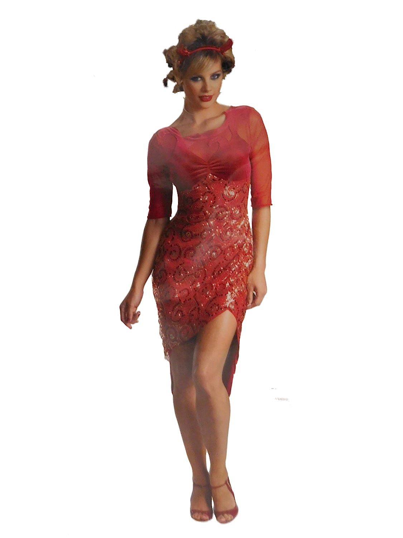 179952b1dd32 Top7: Womens Fiery Devil Halloween Costume Dress & Headpiece Large 12-14