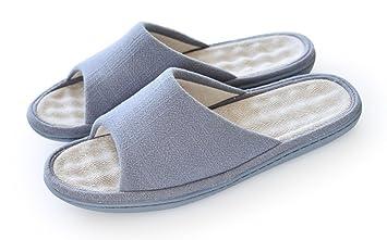 e1c8ef309 Happy Lily Unisex Slip-on Slippers Non-slip Open Toe Sandal COTTON&LINEN  Mules Moisture