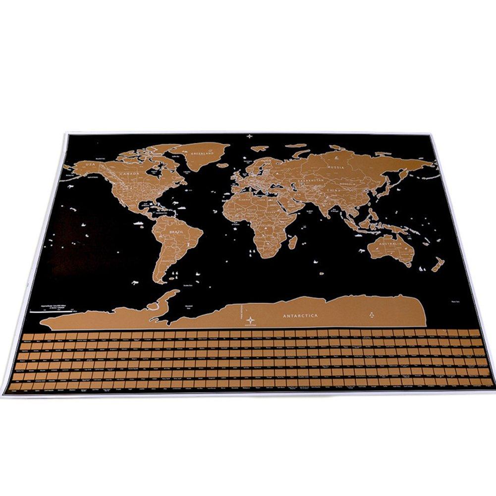 scratch off Map, modalità Deluxe Travel mappa del mondo Poster for home office decorazione modalità Deluxe Travel mappa del mondo Poster for home office decorazione Lloyd