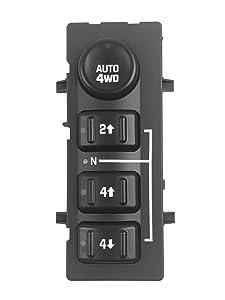 Beasteel 15136039 15164520 19259313 901-0724WD 4x4 Wheel Drive Switch Transfer Case Shift Control Switch Fits Chevy Silverado, Chevrolet Suburban, Avalanche, Tahoe, GMC Yukon, Sierra 2003-2007