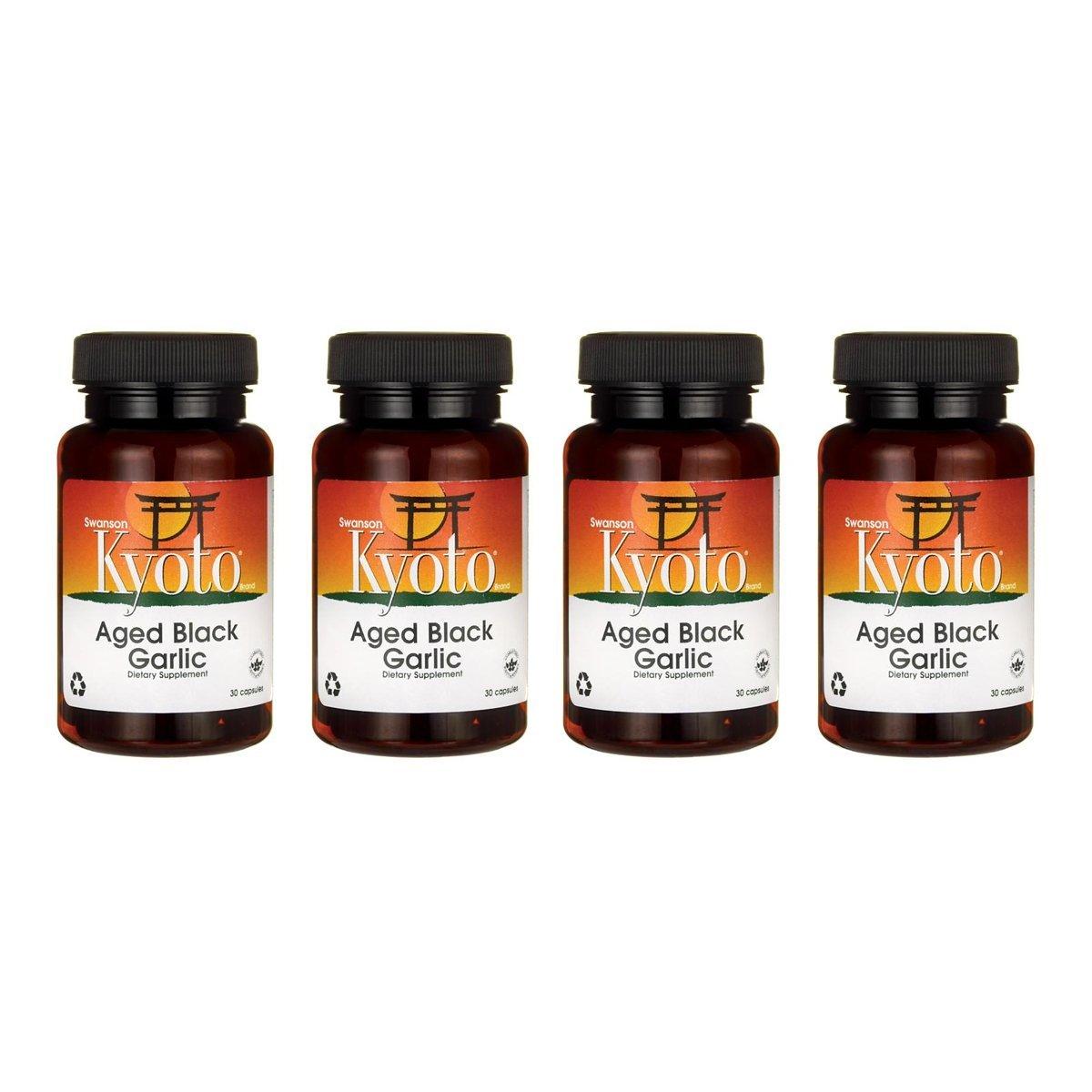 Swanson Aged Black Garlic 650 mg 30 Caps 4 Pack