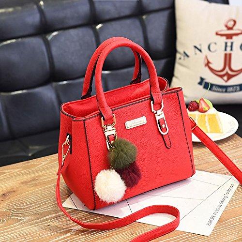 Paquetes Rojo Rojo Pequeña Bolsa Grande Paquetes De Bolsa De Es De Bolsa Un Hombro Paquete Bolsa Grande Mujeres Único KLXEB Paquete TH57qt