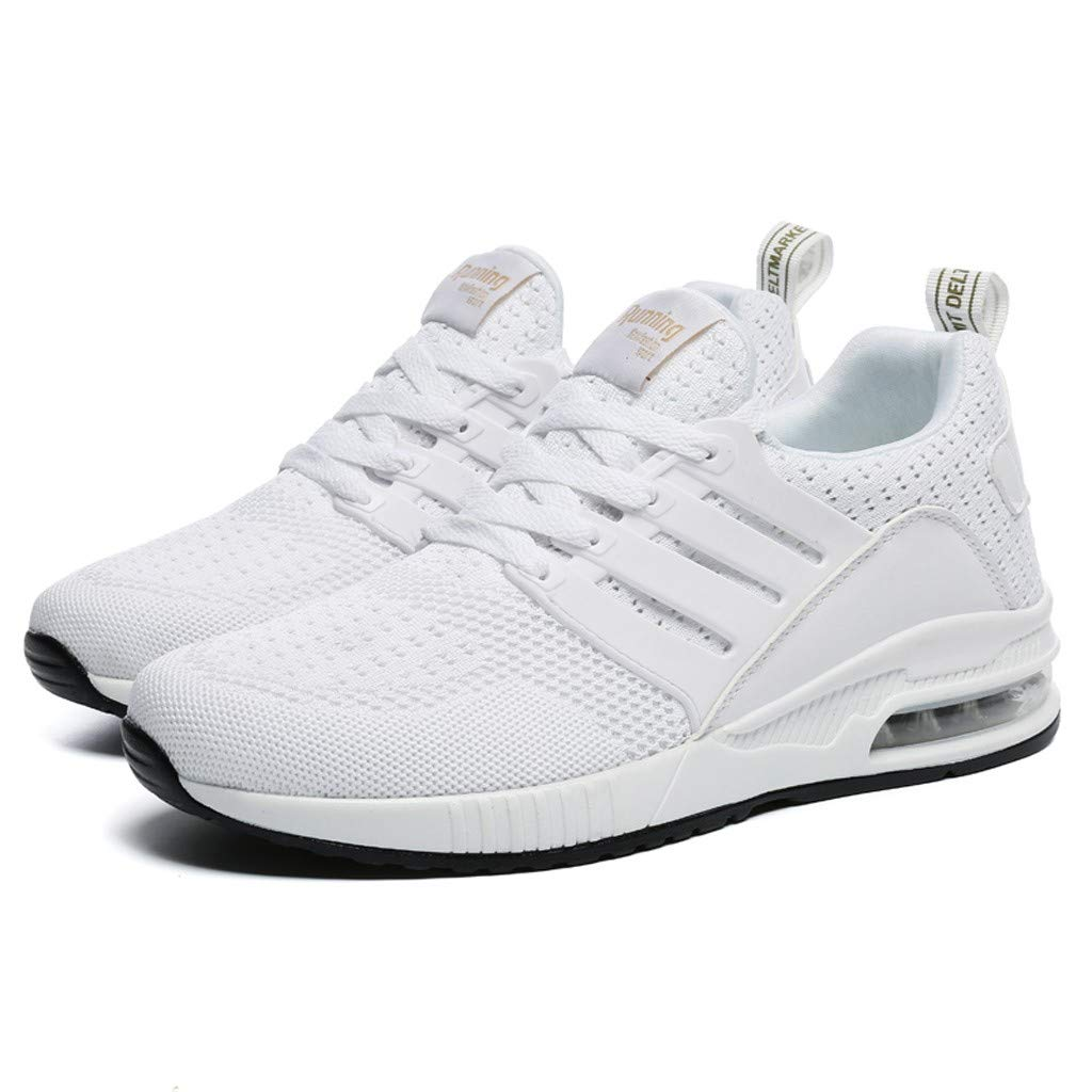 SSYongxia Lover Unisex Breathable Cushion Walking Shoes Lightweight Platform Sneakers Comfortable Runing Work Sneakers White by SSYongxia_Shoe (Image #5)