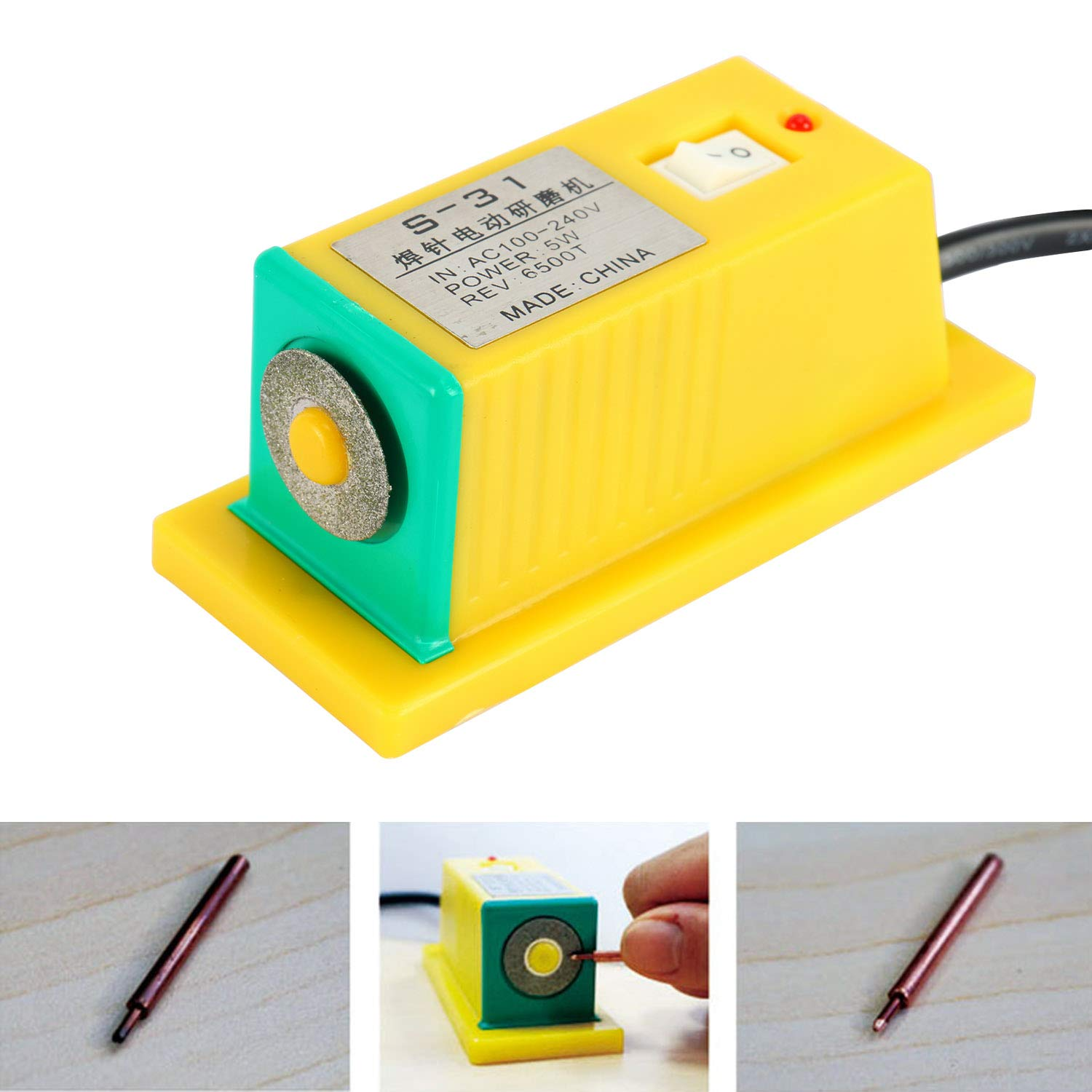 Yae First Trading Co Itd SUNKKO Mini Grinder Grinding Machine for Spot Welding Needles Pins S-31A