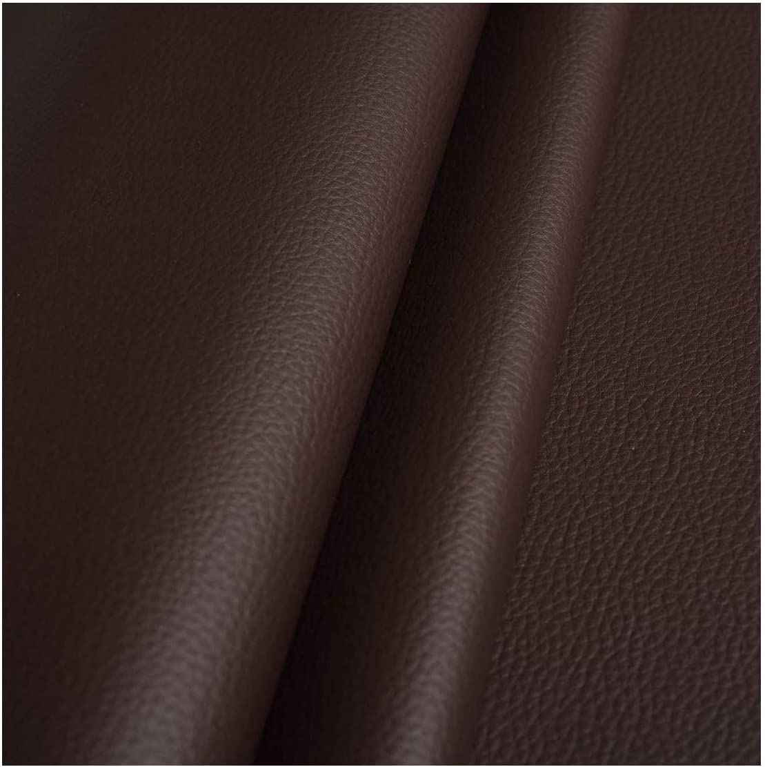 Brown FAUX LEATHER LEATHERETTE UPHOLSTERY FABRIC WIDELY USED