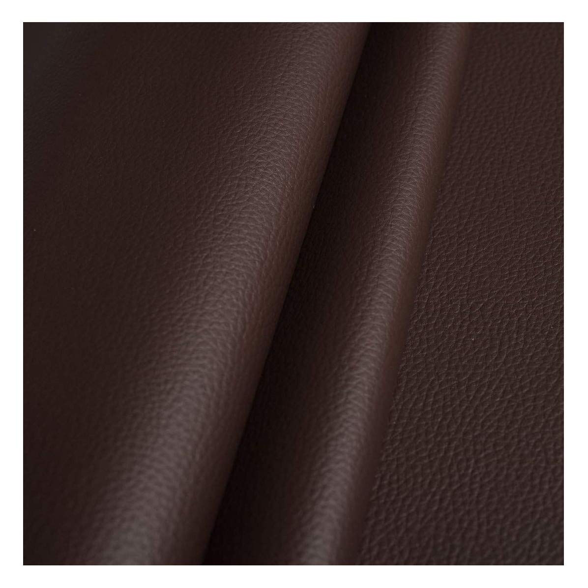 CHOCOLATE DARK BROWN FAUX LEATHER LEATHERETTE MATERIAL HEAVY FEEL PVC VINYL UPHOLSTERY FABRIC PER 1 METRE X 140CM