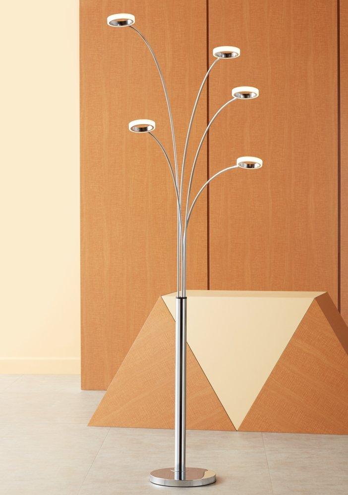 Possini Euro Aldo Chrome 5-Light LED Arc Floor Lamp - - Amazon.com
