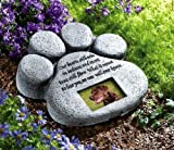 CTD Store Dog Cat Paw Print Grave Memorial Stone, This Beautiful Paw Print Is The Perfect Way To Mark The Bellowed Pet 's Final Resting Peace - Indoor And Outdoor Decoration