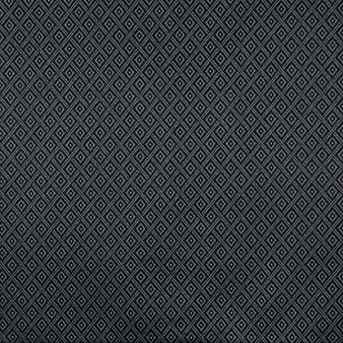 (F724 Black and Silver Diamond Heavy Duty Crypton Commercial Grade Upholstery Fabric by The Yard)