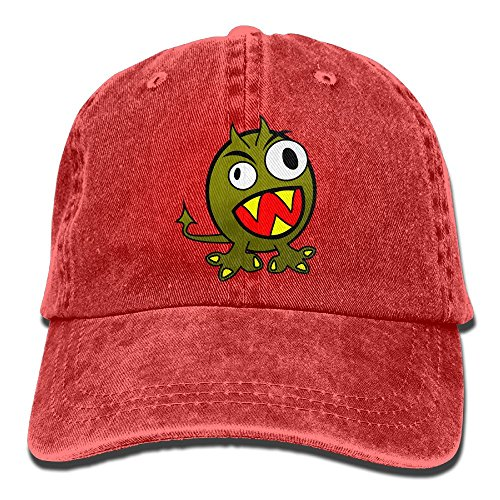 Uanqunan Cartoon Monster Unisex Cotton Denim Baseball Cap - Monster High Economy Dolls