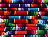 El Paso Designs Mexican Serape Blankets Bright & Colorful Saltillo Serape Blanket (X-Large
