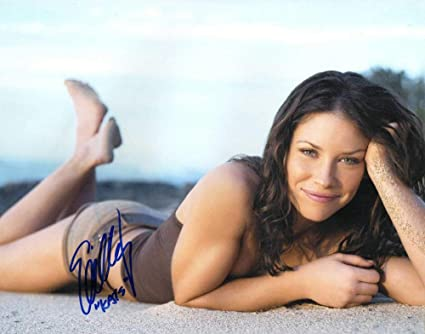 Orig Signature Evangeline Lilly Autographed Signed Lost Celebrity 8x10 Photo