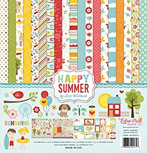 Echo Park Paper Company HS105016 Happy Summer Collection Kit