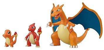 Pokemon Evolution Plastic Modeling Kit Charmander Charmeleon Charizard Plamo Figure Toy Lizardon Bandai Japanese Import