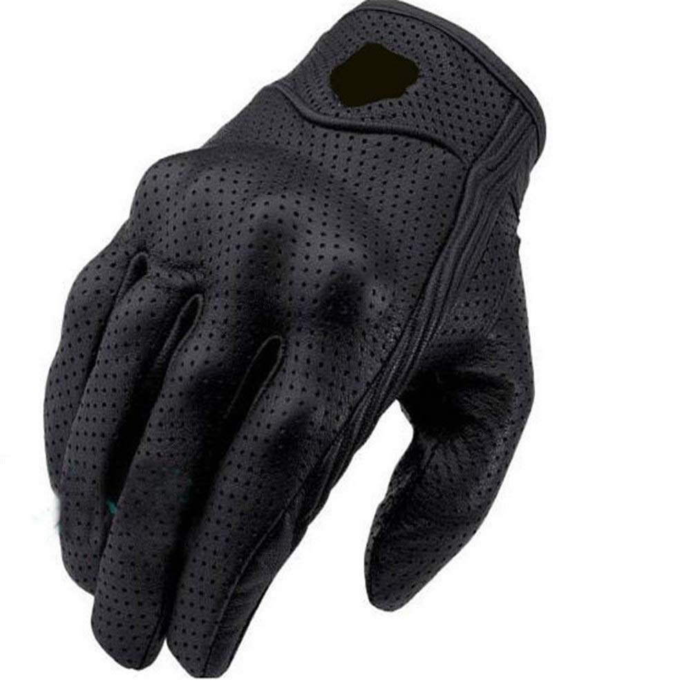 Pkmamsh Touch Screen PU Gloves Motorcycle Racing Locomotive Rider Gloves Winter Full Finger Shatter-Resistant Gloves