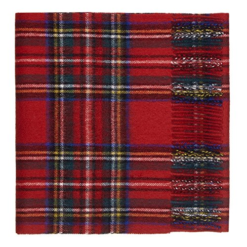 Scotland Wool - 100% Lambswool Tartan Scarf by Shepherds Land, Royal Stewart-One Size