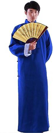 Nuevo Hombre Chinos Vieja Mandarin Robe Vestido Largo IP Man ...