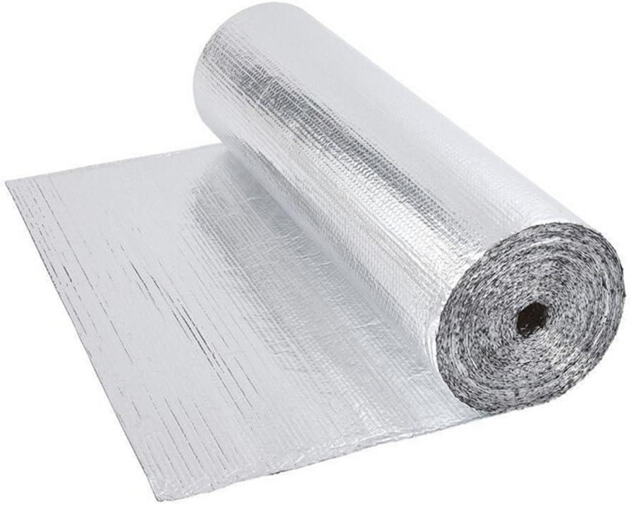 Double Bubble Aluminium Foil Wrap Insulation-Floor Loft Wall Boat Motorhome Shed 1 * 25m