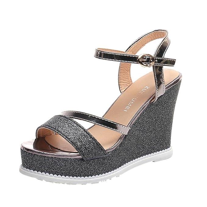 Sandalias 2018 Para Mujer De Las MujerReturom Zapatos Cuña bgv76fyY