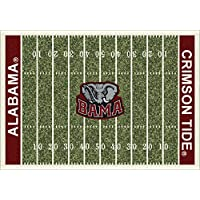 Alabama Crimson Tide NCAA College Home Field Team Area Rugs