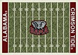 American Floor Mats Alabama Crimson Tide NCAA College Home Field Team Area Rug 5'4″ x7'8 For Sale