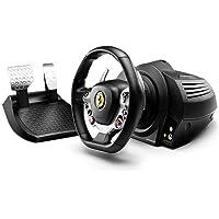 Thrustmaster TX Racing Wheel Ferrari 458 Italia Edition Volante + Pedales PC, Xbox One Negro, Plata - Volante/mando (Volante + Pedales, PC, Xbox One, D-pad, Negro, Plata, Metal, De plástico, Caucho, 280 mm) - Windows