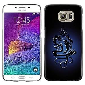 Be Good Phone Accessory // Dura Cáscara cubierta Protectora Caso Carcasa Funda de Protección para Samsung Galaxy S6 SM-G920 // Tribal Dragon