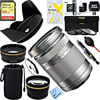 Olympus M. Zuiko 40-150mm f4.0-5.6 R Lens - Silver (V315030SU000) + 64GB Ultimate Filter Bundle