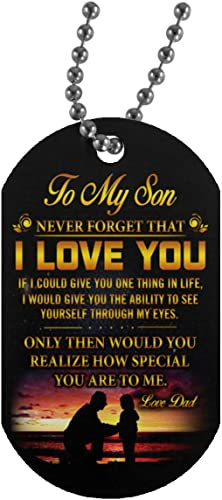 Amazon.com: Meaningful Quote Mi Hijo Amor colgantes Padre ...