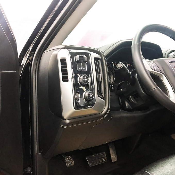 Chrome Seat adjustment button panel cover trims molding for GMC sierra Chevrolet Silverado 2014 2015 2016 2017 2018 accessories
