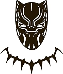 "Black Panther Vinyl Sticker Decals for Car Bumper Window MacBook pro Laptop iPad iPhone (6"" x 5.1"", Black)"