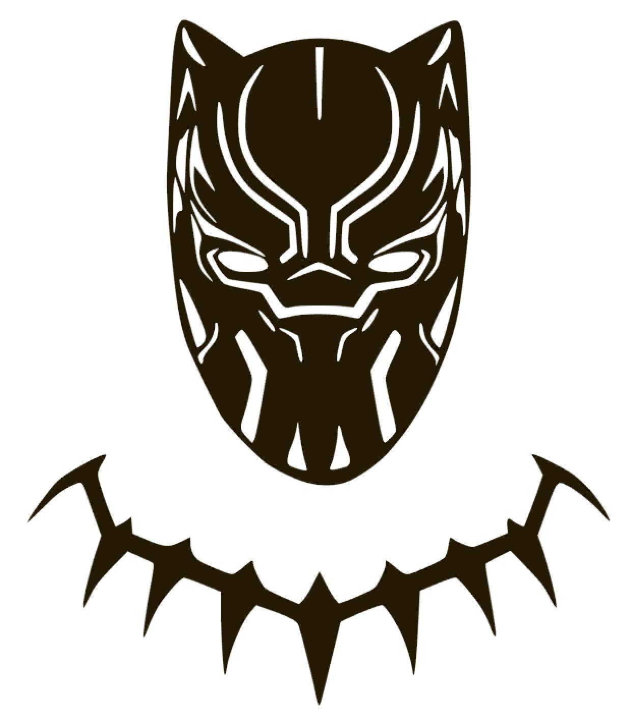 Amazon com black panther new movie vinyl sticker decals for car bumper window macbook pro laptop ipad iphone 3 x 2 5 black home improvement