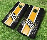 VCU RAMS VIRGINIA COMMONWEALTH ''Striped'' Themed CORNHOLE WRAPS BOARD SET Bean Bag Toss + 8 ACA Regulation Bags ~ MADE in the USA