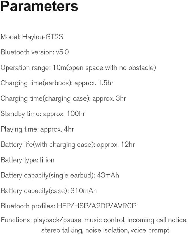 Haylou Gt2s Wireless Earphones Black Elektronik