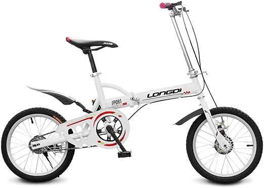 XQ Bicicleta Plegable de 16 Pulgadas Adultos Bicicleta Plegable de ...