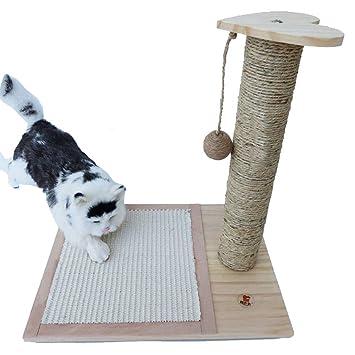 Cvthfyky Marco de Escalada de Gato de Madera Sólida Placa de Rascado Columna Práctica para Agarrar ...