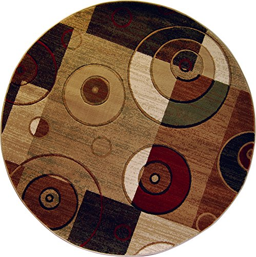 Home Dynamix HD5391-999 Tribeca Home Decor Living Room Round Area Rug, 7'10