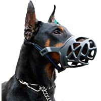 Dog Muzzle, Breathable Basket Muzzles for Small, Medium, Large and X-Large Dogs, Anti-Biting, Barking and Chewing Dog…
