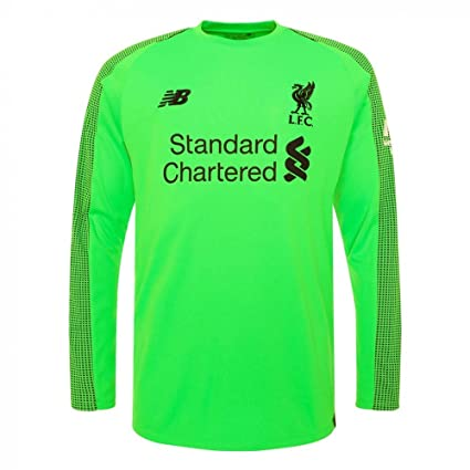 18439baaf New Balance 2018-2019 Liverpool Away Long Sleeve Goalkeeper Shirt (Green)