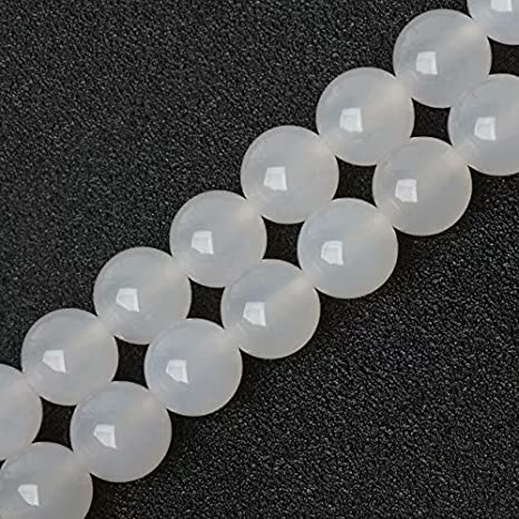 PCS pierres précieuses À faire soi-même Fabrication De Bijoux Artisanat Nacres perles rondes 6 mm Blanc//Gris 60