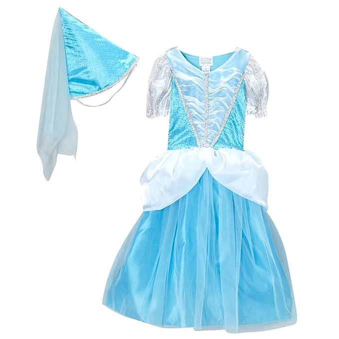 Blue Classic Princess Dress & Cone Hat, Size 6/8